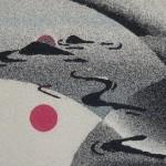 Colored sand art by Ako Tsubaki
