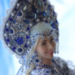 One-of-a-kind Gzhel style doll Alyonushka