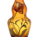 Tulip vase, Hand painted underlay