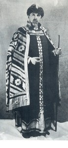 Bilibin in a Russian costume made after his design for Igor Stravinsky's The Firebird, Paris