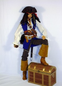 Jack Sparrow doll. Yekaterinburg based artist of applied art Larisa Isayeva
