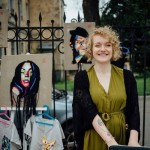 Russian artist Ekaterina Penzinanext to her creations