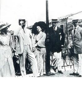 Venice. 1912. Leon Bakst, Sergei Diaghilev, and Vaslav Nijinsky