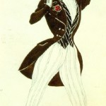 Florestan in Schumann's Le Carnaval (Diaghilev Company). Design by Leon Bakst. 1910. Theater Museum, St. Petersburg