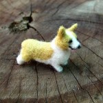 Corgi Needle felted miniature
