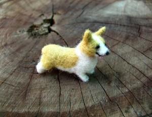 Corgi Needle felted miniature