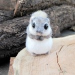 Dwarf flying squirrel. Needle felted miniature by Krasnodar based artist Vera Megorskaya