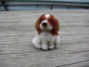 Spaniel. Felted miniature by Vera Megorskaya
