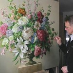 Painting flowers Pieter Wagemans