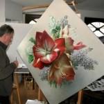 Painting flowers Pieter Wagemans