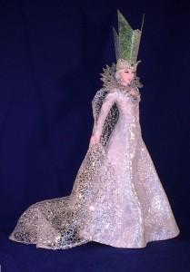 Beautiful Snow Queen. Work by Russian artist of applied art Larisa Isayeva