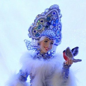 Gorgeous Snowmaiden. Work by Russian artist of applied art Larisa Isayeva