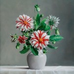 Dahilias. Still life painting by Pieter Wagemans