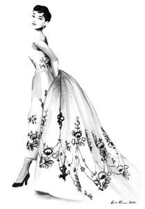 Sabrina. Audrey Hepburn – – Black and White Ink. Soo Kim pencil drawings