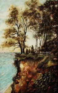 Beach of Svetlogorsk. Kaliningrad Amber painting