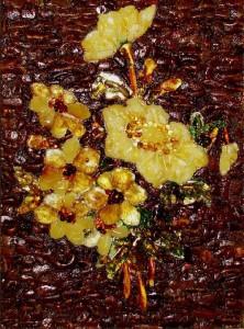 Bouquet. Kaliningrad Amber paintin