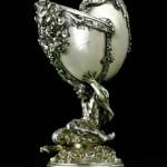 German silver figurative nautilus cup, circa 1900