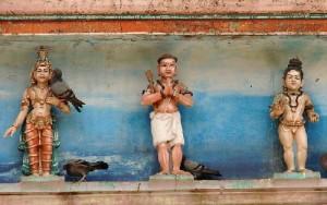 Ivory Sculpture of Sundarar, Appar and Thirugnanasambandar in the temple tower