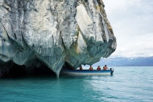 Visitors to Marble Cave