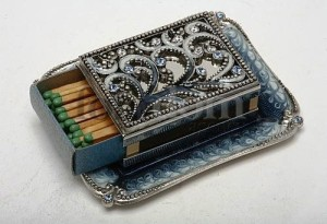 A piece of jewellery art – Matchbox holder