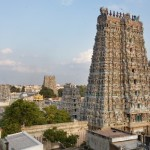 The view of Exquisite Meenakshi Amman Temple