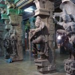 Sculpture inside the Meenakshi Sundareswarar Temple