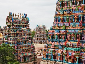 14 gateway towers of the temple ranging from 45–50m in height