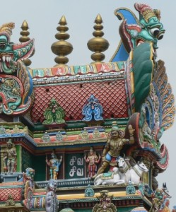 Details of sculpture decorating the Temple
