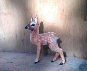 Deer Miniature handmade toy by Victoria Chernysheva