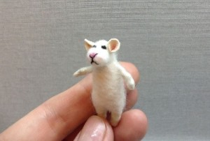 Mouse, handmade miniature toy by Victoria Chernysheva