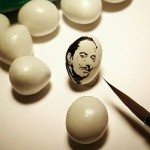 Salvador Dali, Miniature painting on candy