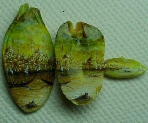 Peanut seeds decorated with the images of Istanbul