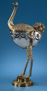 Ostrich. Exquisite Nautilus jewelry art masterpieces
