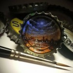 Inside a bottle cap. Hasan Kale Mıcro Art