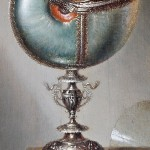 Closeup. Still-Life with Nautilus Cup