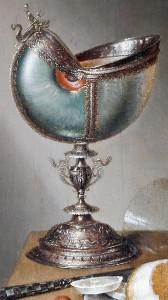 Closeup. Still-Life with Nautilus Cup