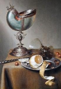 Dutch painter Marten Boelema de Stomme (1611 – 1664). Hallwyl Museum, Stockholm. Still-Life with Nautilus Cup