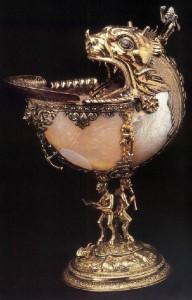 Unknown goldsmith, Netherlandish Nautilus cup 1592 Silver gilt