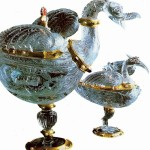 Vessels in the form of herons end of the 16th century Rhinestone Art - History Museum Vienna Italy