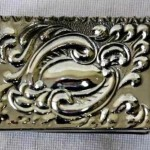 Waves. Metal Vintage matchbox holder