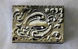 Waves. Metal Vintage matchbox holder