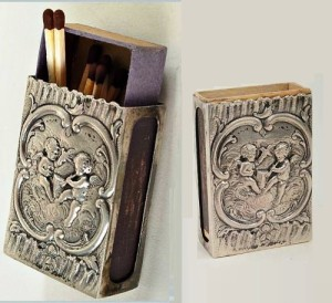 Angels. Vintage matchbox holder