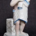 A mother with a baby. Rare vintage Porcelain matchbox holder, early XX century