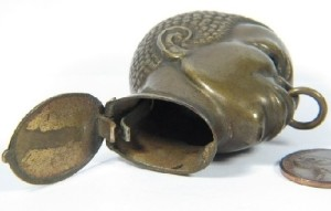 Exotic Vintage matchbox holder in the form of a head