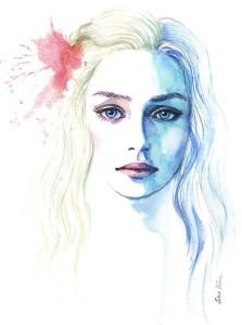 Game of Thrones – Daenerys Targaryen. Watercolor painting