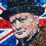 British artist Sir Winston Churchill