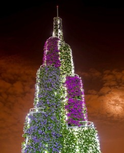 Tower of flowers