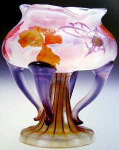 Painted Art Nouveau vase