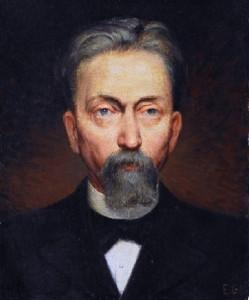 Self-portrait. Art Nouveau Glass maker Emile Galle