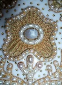 Golden ornamental embroidery